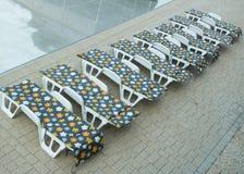Chaises longues Photographie stock libre de droits
