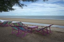 Chaises longues roses Image stock