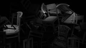 Chaises oubliées images libres de droits