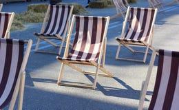 Chaises pliantes Images stock