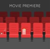 Chaises rouges de cinéma de hall de cinéma illustration de vecteur