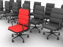 Chaises rouges et noires Images stock