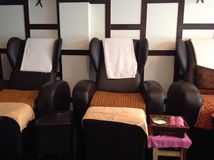 Chaises thaïlandaises de massage Photo libre de droits