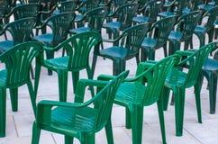 Chaises vertes Photographie stock libre de droits