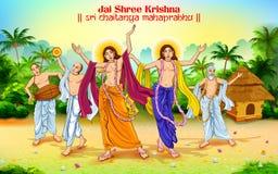 Chaitanya Mahaprabhu in devotion of Lord Krishna for Happy Janmashtami festival of India Stock Images