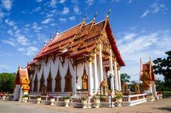 Chaitharam-Tempel, Wat Chalong, Phuket, Thailand Lizenzfreie Stockfotos