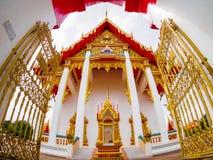 Chaithararam Temple Wat Chalong at Phuket Thailand. Outdoor roadside public temple, Chaithararam Temple Wat Chalong at Phuket Thailand, the temple has created Stock Images