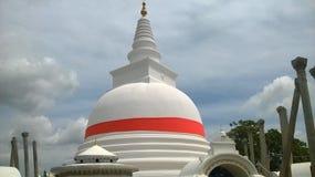 Chaithya in natura di polonnsruwa della Sri Lanka fotografie stock