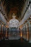 Chaitya-griha lub modlitewna sala w jamie 26 Część 29 ciący pączek zdjęcie stock