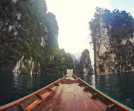 chaive larn水坝suratthani泰国 图库摄影