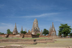 Chaiwattanaram tempel Royaltyfria Bilder