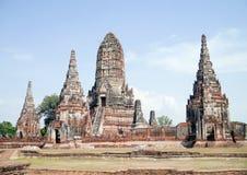 Chaiwattanaram tempel. Royaltyfri Foto