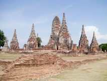 Chaiwattanaram tempel. Arkivbilder