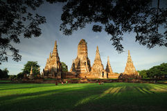 Chaiwattanaram Tempel Stockfotos