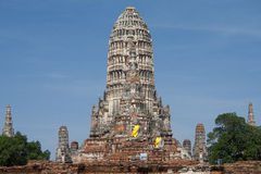 Chaiwattanaram temple Royalty Free Stock Photo