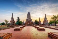 Chaiwattanaram temple in Ayutthaya Historical Park, Thailand. - Royalty Free Stock Images
