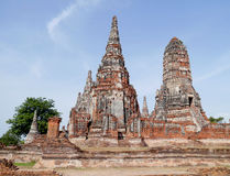 Chaiwattanaram temple . Chaiwattanaram temple in ayutthaya province thailand Stock Images