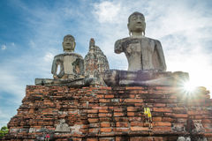 Chaiwattanaram temple. Buddha statue at Chaiwattanaram temple ,Ayutthaya ,Thailand Royalty Free Stock Photography