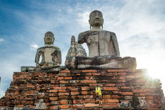 Chaiwattanaram temple. Buddha statue at Chaiwattanaram temple ,Ayutthaya ,Thailand Stock Photos