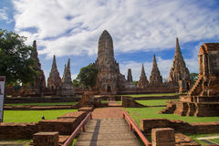 Chaiwattanaram temple. Is a buddhist temple in the city of Ayutthaya Historical Park,Thailand Royalty Free Stock Photos
