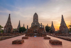 Chaiwattanaram temple. In the evening Ayutthaya Thailand Stock Photography