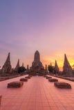 Chaiwattanaram temple. In the evening Ayutthaya Thailand Royalty Free Stock Image