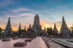 Chaiwattanaram temple. In the evening ,Ayutthaya ,Thailand Stock Images