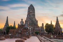 Chaiwattanaram temple. In the evening ,Ayutthaya ,Thailand Royalty Free Stock Image