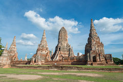 Chaiwattanaram temple. The world heritage ,Ayutthaya ,Thailand Royalty Free Stock Photography