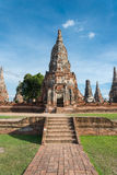 Chaiwattanaram temple. The world heritage ,Ayutthaya ,Thailand Royalty Free Stock Image