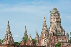 chaiwattanaram wat pagodowy świątynny Obrazy Royalty Free