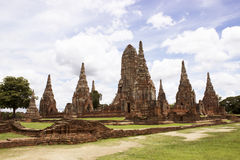 Chaiwatthan tempel på Ayutthaya Royaltyfri Foto