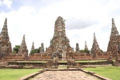 Chaiwatthan tempel på Ayutthaya Arkivbild