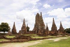 Chaiwatthan temple at Ayutthaya Royalty Free Stock Photo