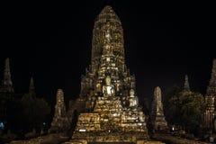 Chaiwatthanaram寺庙 库存图片