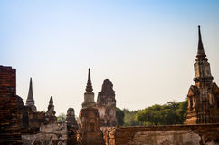 Chaiwatthanaram-Tempel die alte Hauptstadt in Ayutthaya Thailand lizenzfreie stockfotografie