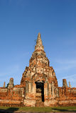 Chaiwatthanaram Temple. This place is a temple Chaiwatthanaram in Ayutthaya Province, Thailand stock photography