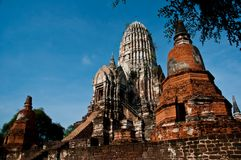 Chaiwatthanaram temple Royalty Free Stock Image