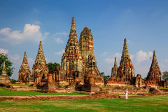 Chaiwatthanaram Temple in Ayutthaya,Thailand. Wat Chaiwatthanaram Temple in ancient former capital city Ayutthaya, Thailand Royalty Free Stock Photos