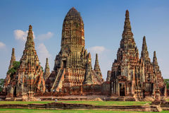 Chaiwatthanaram Temple in Ayutthaya,Thailand. Wat Chaiwatthanaram Temple in ancient former capital city Ayutthaya, Thailand Stock Photography
