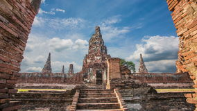 Chaiwatthanaram Temple beautiful ancient architecture in Ayutthaya stock video
