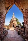 Chaiwatthanaramtempel, Oude Tempel van Ayuthaya, Thailand Royalty-vrije Stock Fotografie