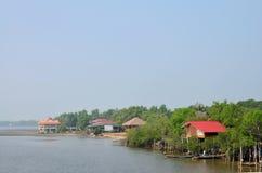 Chaiya Fishing village at Andaman Sea Stock Photo