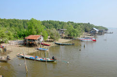 Chaiya Fishing village at Andaman Sea Royalty Free Stock Photography