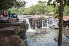 Chaiyaphum,泰国- 2016年5月05日:Tatton瀑布在Tatton 免版税库存照片