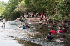 Chaiyaphum,泰国- 2016年5月05日:Tatton瀑布在Tatton 免版税库存图片