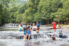 Chaiyaphum,泰国- 2016年5月05日:Tatton瀑布在Tatton 库存图片