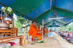 CHAIYAPHUM, TAILANDIA 15 de mayo: Tailandés no identificado Foto de archivo libre de regalías