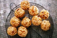 Chak-chak traditional asian sweet dessert Stock Photos