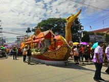 Chak Pra Festival Suratthani Thailand royalty-vrije stock foto's